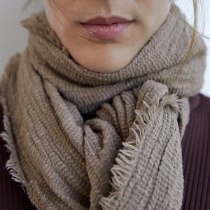 Textured rustic scarf
